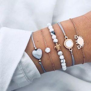 Jewelry - NWT BUY 2 GET 1 FREE STACK OF 6 BEACH BRACELETS